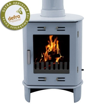 Carron China Blue Enamel Dante 5kW Smoke Exempt Multifuel Stove