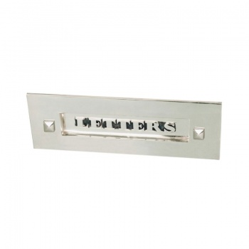 Classic Letterbox Without Clapper - Nickel