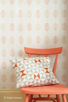 Little Greene 50s Line Papers Cones Wallpaper