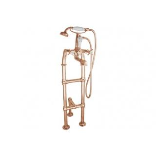 Free Standing Copper Bath Taps With Support - Large