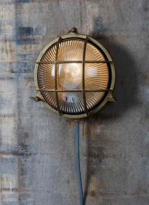 Devonport Round Bulk Head Light - Brass
