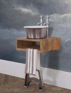 Cast Iron Freestanding Tub Basin - Painted