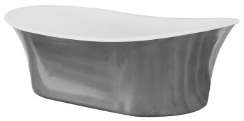 Cast Iron Freestanding Bateau Basin - Polished