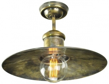 Edison Large Flush Ceiling Light Pendant