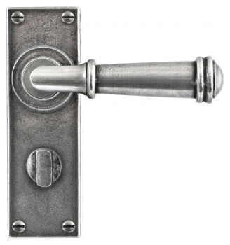 Finesse Durham Lever Handles on Bathroom Backplate