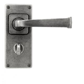 Finesse Allendale Lever Handles on Jesmond  Bathroom Backplate