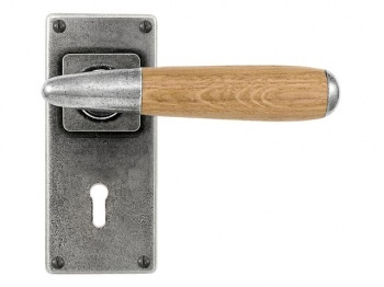 Finesse Lever on Lock Backplate in Oak, Walnut or Cherry