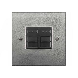 Finesse Double Telecom Socket Coverplate