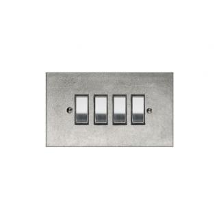 Finesse Quad Rocker Switch Coverplate