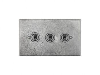 Finesse Triple Toggle Switch Coverplate