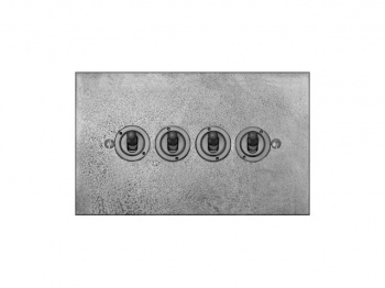 Finesse Quad Toggle Switch Coverplate