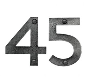 Finesse Genuine Pewter 75mm (3'') Door Numbers