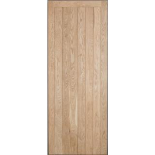 Solid Oak External Door - Framed & Ledged