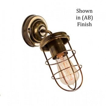Cellar Angled Wall Light - Antique Brass
