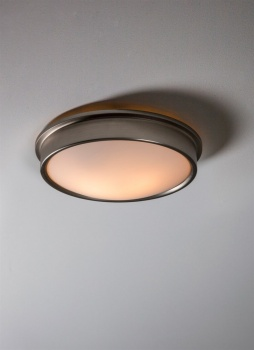Ladbroke Bathroom Ceiling Light - Satin Nickel
