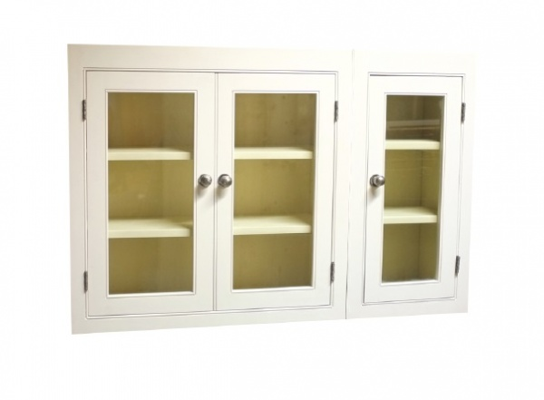 Fitted Kitchen 1200 3 Door Wall Unit Glazed