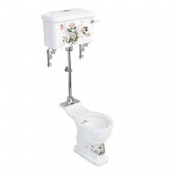 English Garden medium-level pan with English Garden lever cistern