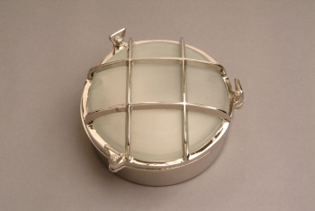 Nickel Large Ships Bulkhead Lamp (Glass Included)