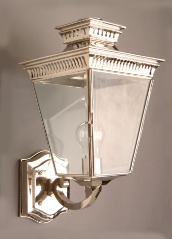 Nickel Pagoda Wall Lantern