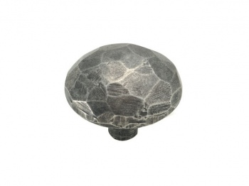 Finesse Facet - Genuine Pewter Cabinet Knob