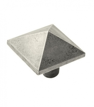 Finesse Pyramid - Genuine Pewter Cabinet Knob (2 part)