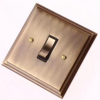 Edwardian Antique Brass Rocker Switches