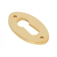 Polished Brass Oval Escutcheon