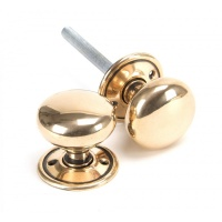 Polished Bronze Mushroom Mortice/Rim Knob Set