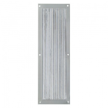 Polished Nickel Reeded Finger Plate