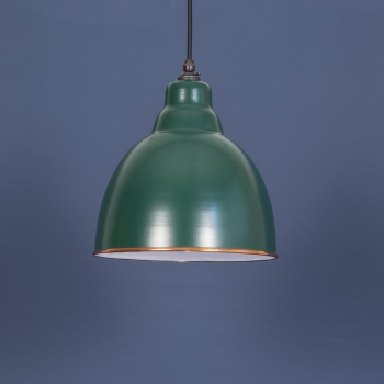 The Brindley Pendant - Racing Green and White
