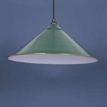 Racing Green and White Yardley Pendant