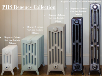 360mm Regency 4 Column Cast Iron Radiators