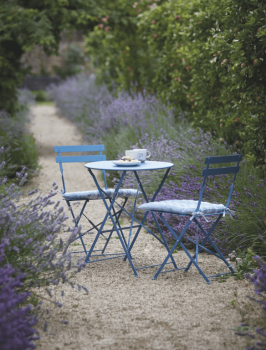 Round Bistro Set Table & 2 Chairs in Lulworth Blue