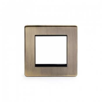 The Charterhouse Collection Aged Brass metal Single Data Plate 2 Modules