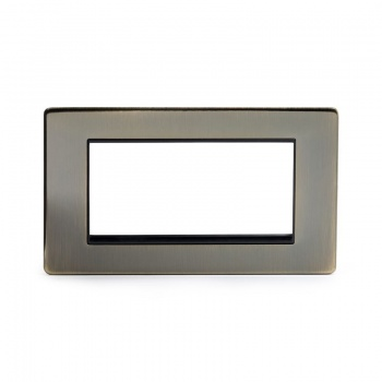 The Charterhouse Collection Aged Brass metal Double Data Plate 4 Modules