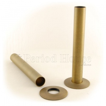 Burnished Brass Pipe Shrouds
