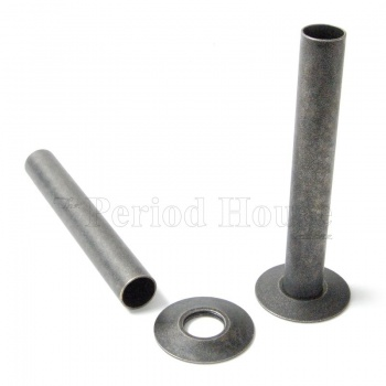 Cast Iron Radiator Pipe Shrouds - Pewter