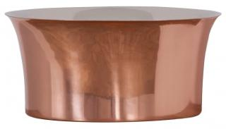 Copper Freestanding Tub Basin - Nickel Interior