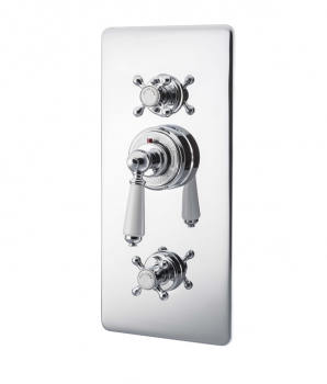 Concealed Thermostatic Valve With Integral flow Valves Chrome