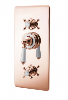 Concealed Thermostatic Valve With Integral flow Valves Copper