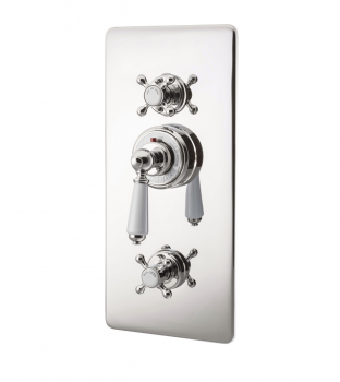 Concealed Thermostatic Valve With Integral flow Valves Nickel