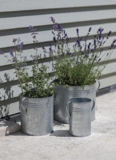 Set of 3 Galvanised Planters