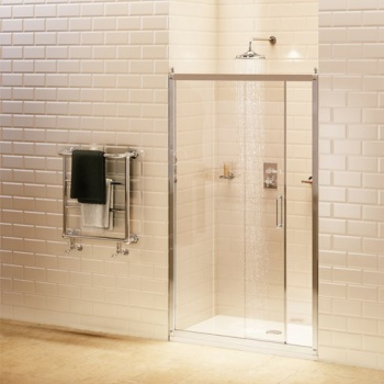 Burlington Bathrooms - Soft Close Sliding Shower Door