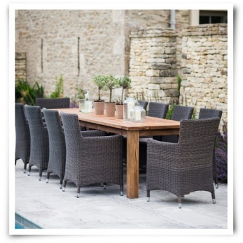 St Mawes 10 Seater Table Set