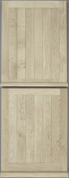 Solid Oak External Door - Framed & Ledged Stable