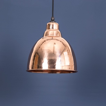 The Brindley Pendant - Hammered Copper