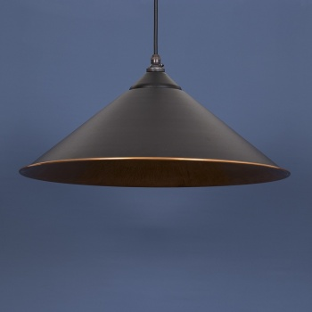 The Yardley Pendant - Smooth Copper and Black Grain Exterior