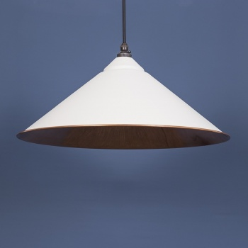 The Yardley Pendant - Smooth Copper and Grey Grain Exterior