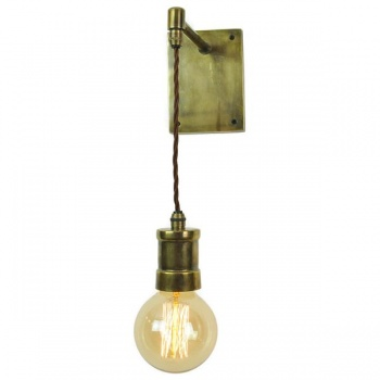 Tommy Adjustable Wall/Ceiling Light - Antique Brass