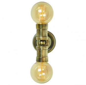 Tommy Double Wall/Ceiling Light - Antique Brass
